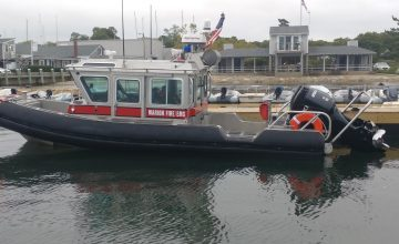 Marion Fire Boat Outfitted by ABI's Service Department